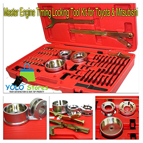 Master Engine Timing Locking Tool Kit For Toyota and Mitsubishi Cam Belts Crank Shaft By YOLO Stores by YOLO Stores