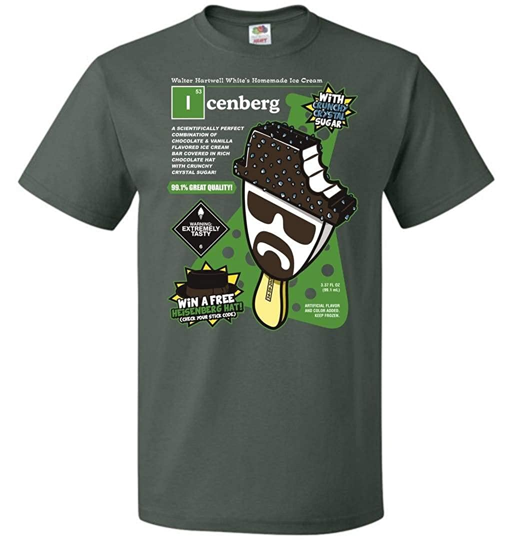 Icenberg Unisex T-Shirt Adult Pop Culture Graphic Tee Nerdy Geeky Apparel