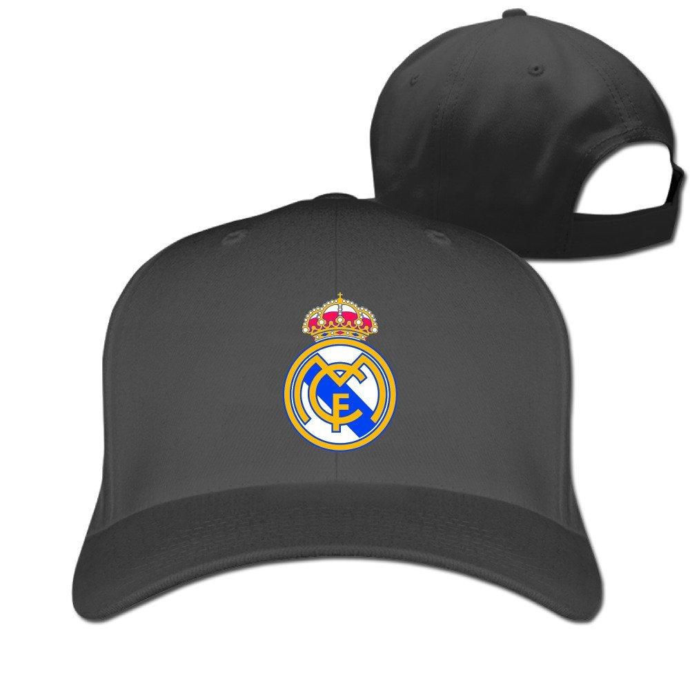 Real Madrid Unisex ajustable diseño Gorra - negro -: Amazon.es: Libros