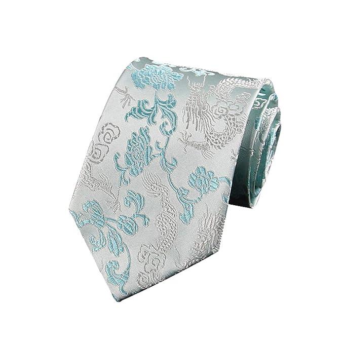 JUNGEN Corbata de Estampada Vintage para Hombre Corbata de dragón ...