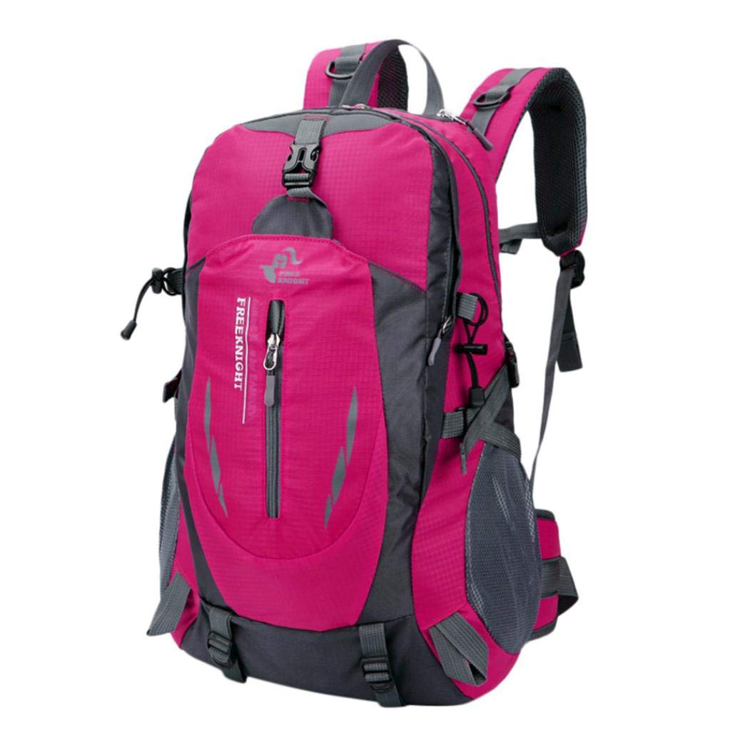 Outdoor Trekking Traveling Backpack,Waterproof Children Kids Boys Girls School Bookbag Classic Basic Casual Daypack (Pink)
