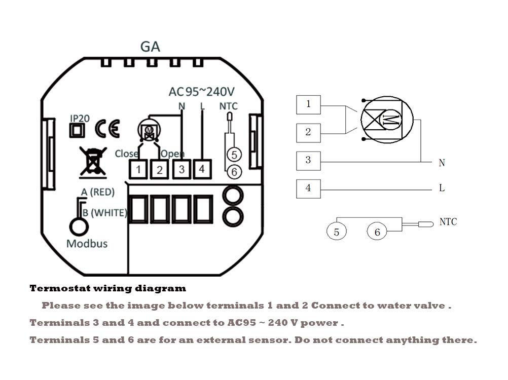 Termostato Calefaccion para Caldera de Gas//Agua Termostato Digital Wifi Inteligente Compatible con Alexa Google Home,controlador de temperatura programable casa 220V,3A
