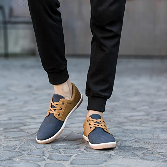 Zapatos de hombre Zapatos masculinos Casual Mocasines Costura Deporte Corriendo Excursionismo Zapatos LMMVP (Marrón, 44): Amazon.es: Iluminación