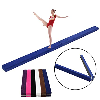 f33953ef74ff Image Unavailable. Image not available for. Color: 48x3.9x2.2inch Kids  Folding Balance Beam Gymnastics Mat Training Pad Sports Protective Gear