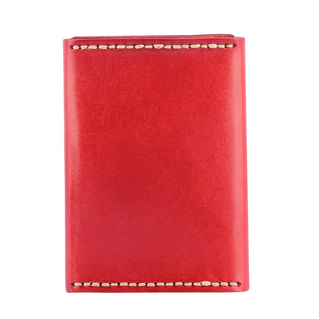 Prettyia Genuine Leather Coin Card Holder Wallet Cash Purse Money ID Document Bag