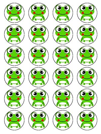 X24 CARTOON TOAD BIRTHDAY PARTY CUP CAKE TOPPERS DECORATION ON EDIBLE RICE PAPER