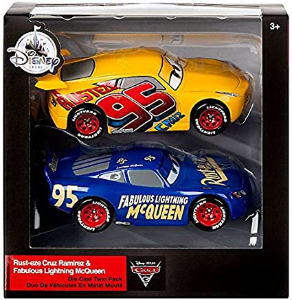Amazon Com Mattel Disney Cars Fabulous Lightning Mcqueen And Rust