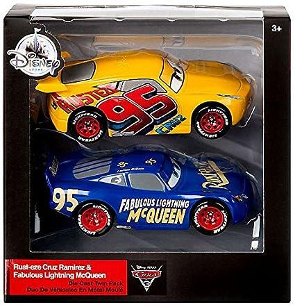 Mattel Disney Cars Fabulous Lightning McQueen And Rust Eze Cruz Ramirez 143