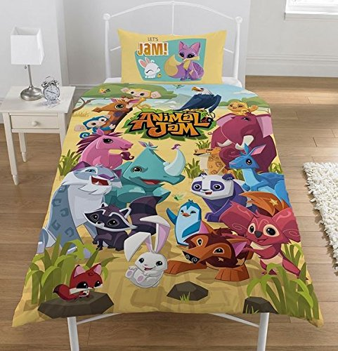 Animal Jam Uk Single/US Twin Duvet Cover and Pillowcase Set by Animal Jam