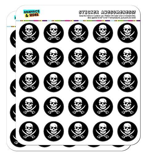 Pirate Skull Crossed Swords Jolly Roger 1