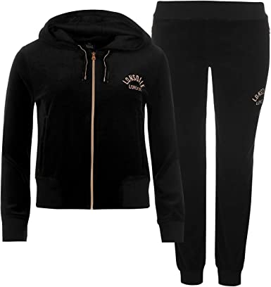 Lonsdale Mujer Velour Chandal Señoras Deporte Entrenar Casual Ropa ...