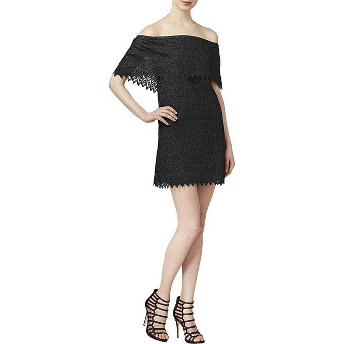 df94d3725a36 kensie Tie Off-Shoulder Eyelet Detail Dress at Amazon Women s ...