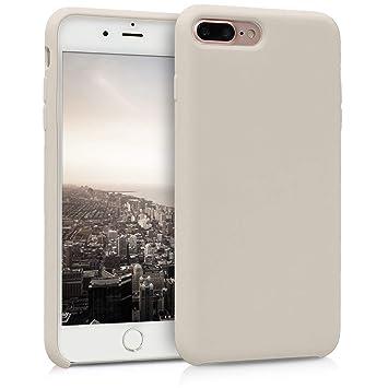 kwmobile Funda para Apple iPhone 7 Plus / 8 Plus - Carcasa de [TPU] para teléfono móvil - Cover [Trasero] en [Crema]