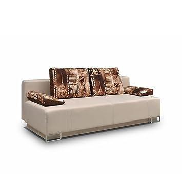 Schlafsofa Badia, Sofa Couch mit Bettkasten und Schlaffunktion ...