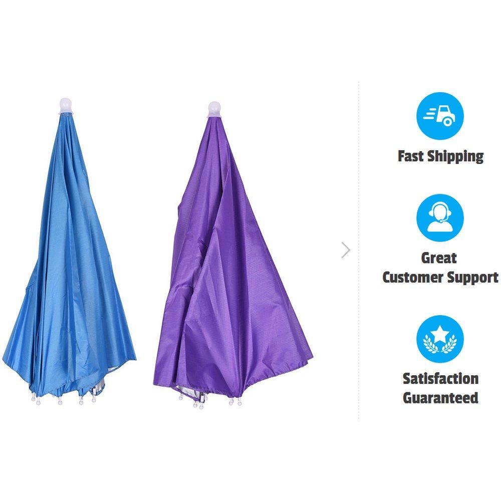 Fold p/êche et jardinage bleu roi Inoutdoorkit UH26 Chapeau de parapluie color/é pliable 66 cm Bandeau /élastique pour f/ête Open 14.2x 2 id/éal pour les enfants 14.2x26x26