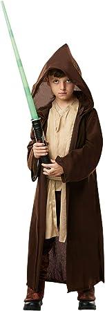 Oferta amazon: Star Wars - Disfraz Túnica Jedi Premium para niños, infantil 7-8 años (Rubie's 640274-L)