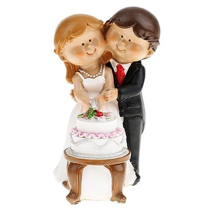 Generic Romantic Love Cartoon Wedding Cake Topper Bride and Groom ...