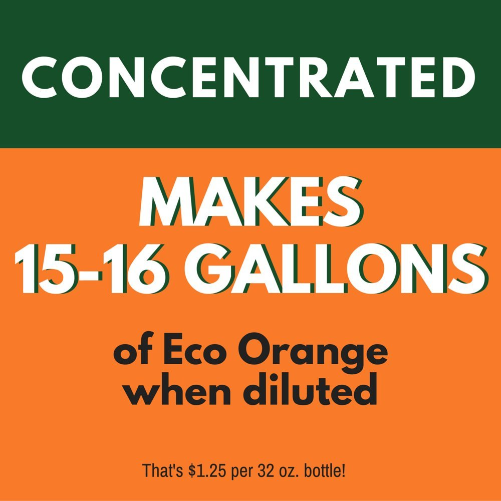 Eco Orange 1 Gallon Super Concentrate. Strongest All-Natural, All-Purpose Orange Citrus Cleaner. Makes up to 16 GALLONS after dilution. Non-Toxic, Allergy-Free, Eco-Friendly. Safe for Family, Pets. by Eco Orange (Image #2)