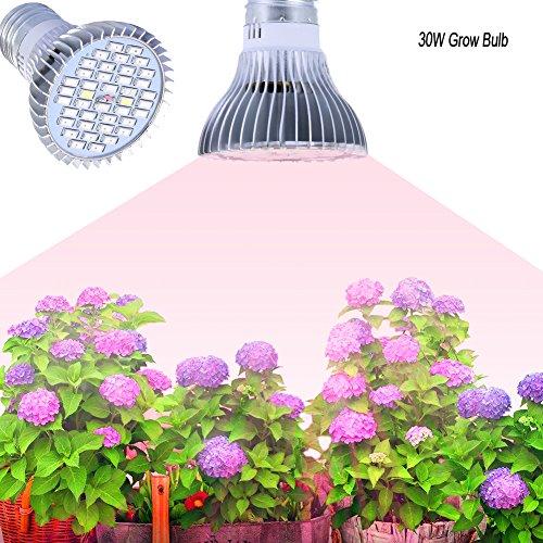 E27 Growing Bulbs, Gianor 30W Led Grow Lights Full Spectrum