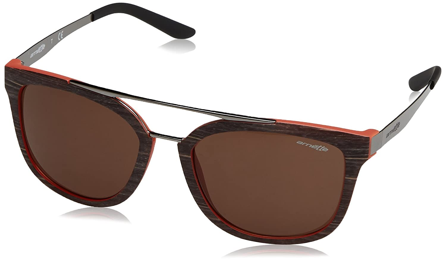 Arnette Juncture Gafas de sol, Brush Brown/MT Orange, 56 para Hombre