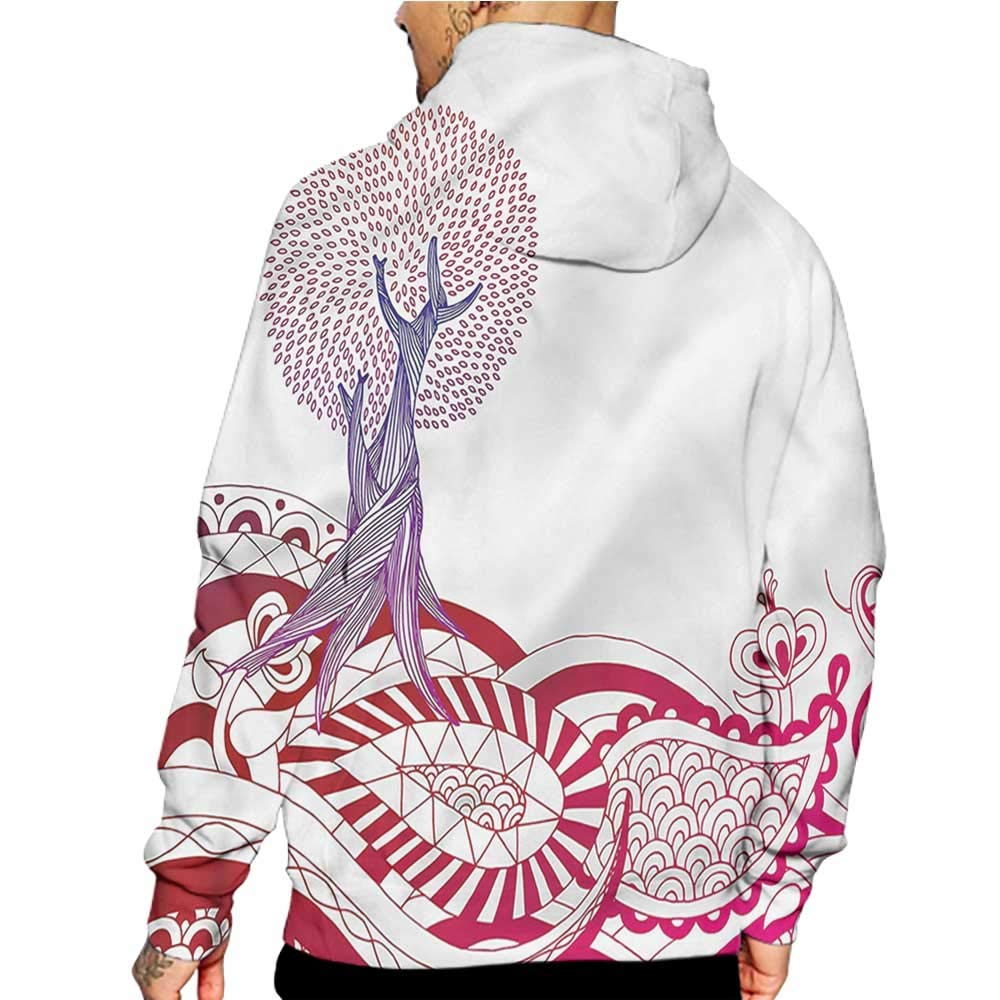 colerapee Hoodies Sweatshirt Pockets Abstract,Horizontal Geometric Bands,Zip up Sweatshirts for Women