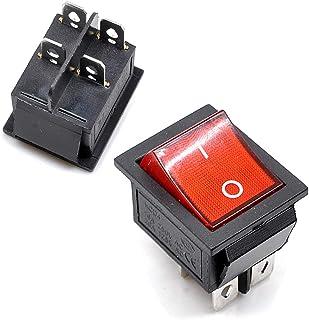 Willwin KCD4 DPST Wippschalter, 4-polig, 16 A/250 V, 20 A/125 V, Rot grün