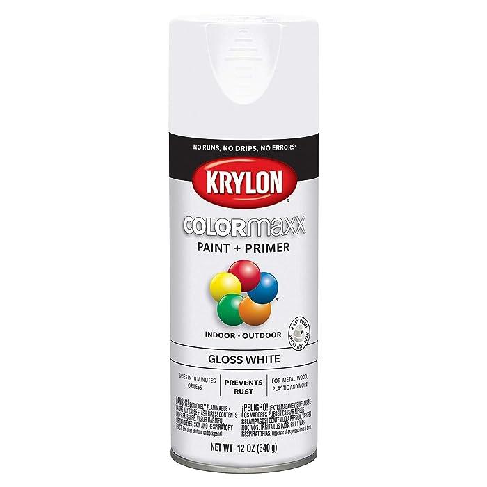 Krylon K05545007 COLORmaxx Spray Paint, Aerosol, White