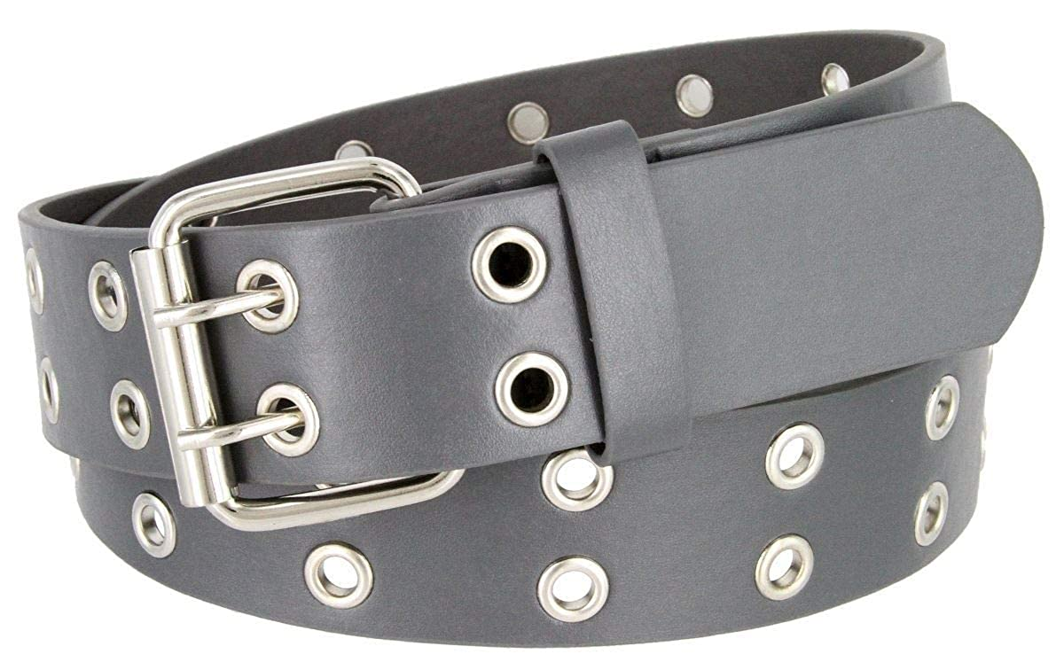 Double Prong Genuine Leather Casual Belt 1-3//8 Wide BSC