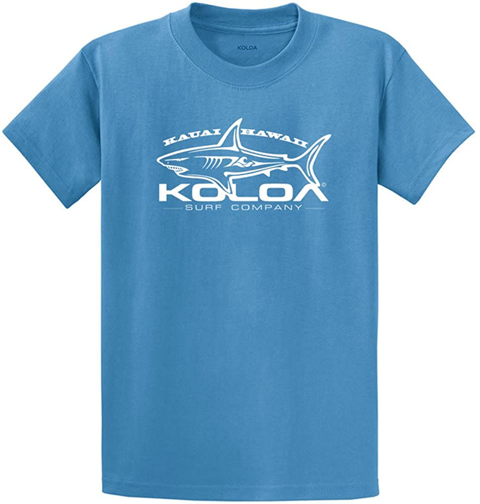 3e55ddcf1 Koloa Surf(tm) Great White Shark T-Shirt. Mens Heavyweight 6.1-ounce, 100%  cottonT-Shirts in Regular, Big and Tall Sizes. A reliable choice for  comfort, ...