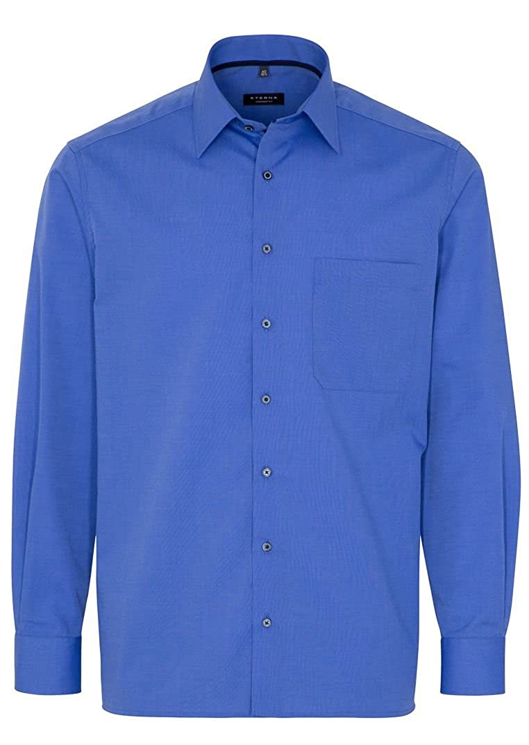 TALLA 44. Eterna Camisa Formal - Liso - Clásico - Manga Larga - para Hombre