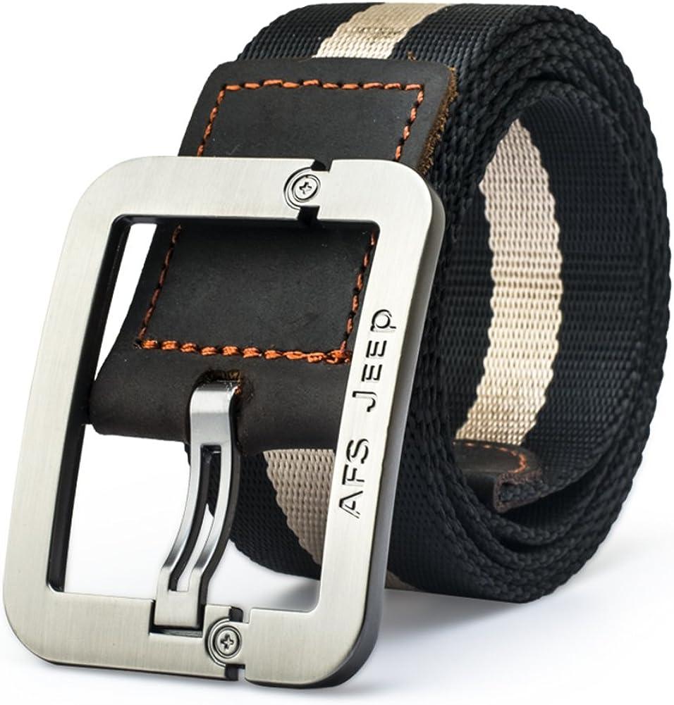 JIEJING Mens Canvas Belt,Youth Leisure Belt Student Pin Buckles Belt