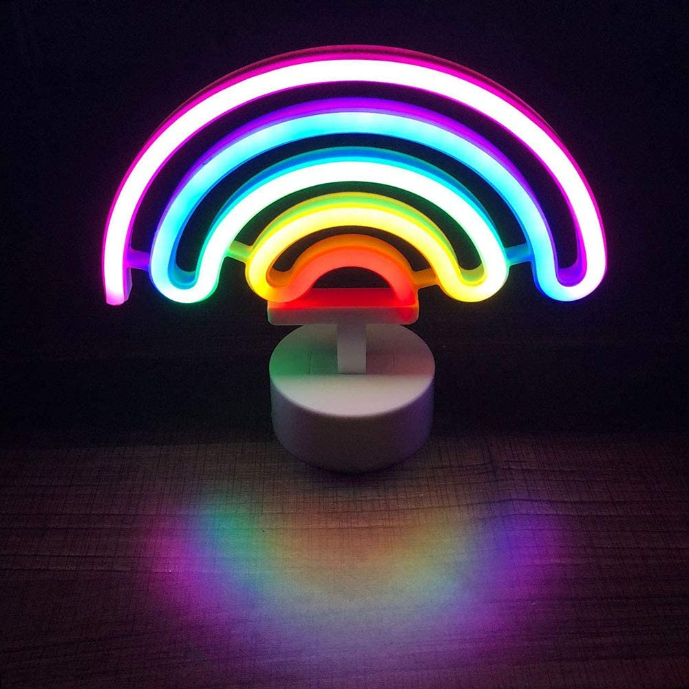 LED Neon Light Rainbow Shape Neon Sign Childrens Room Night Lights Suitable for Home Decoration