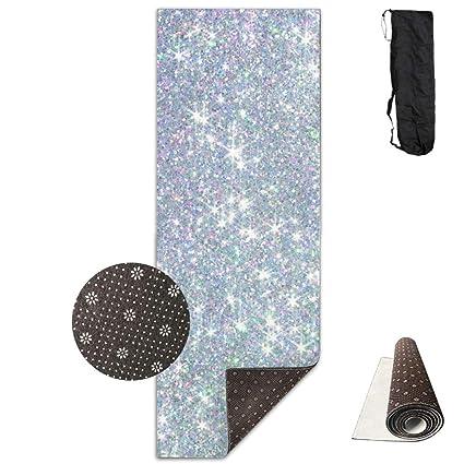 Amazon.com: KIOT156 Shiny Silver Background.jpg Yoga Mat ...