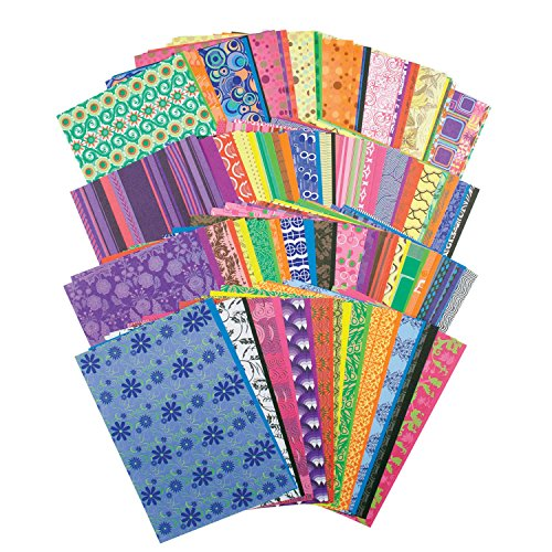 Roylco Decorative Hues Paper, 8-1/2 X 5-1/2 in, Pack of 192 - 1435530