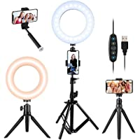 Deals on VicTsing Selfie Ring Light w/2 Tripod Stand & Phone Holder