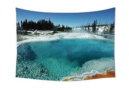 Camere Da Letto Turchese : Yellowstone decor arazzo da parete hot clear spring e evergreen