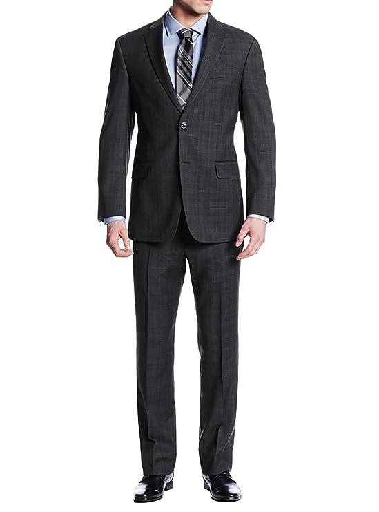 LN LUCIANO NATAZZI Two Button Men's Suit Nathan Plaid Trim-Fit Blazer Two Piece