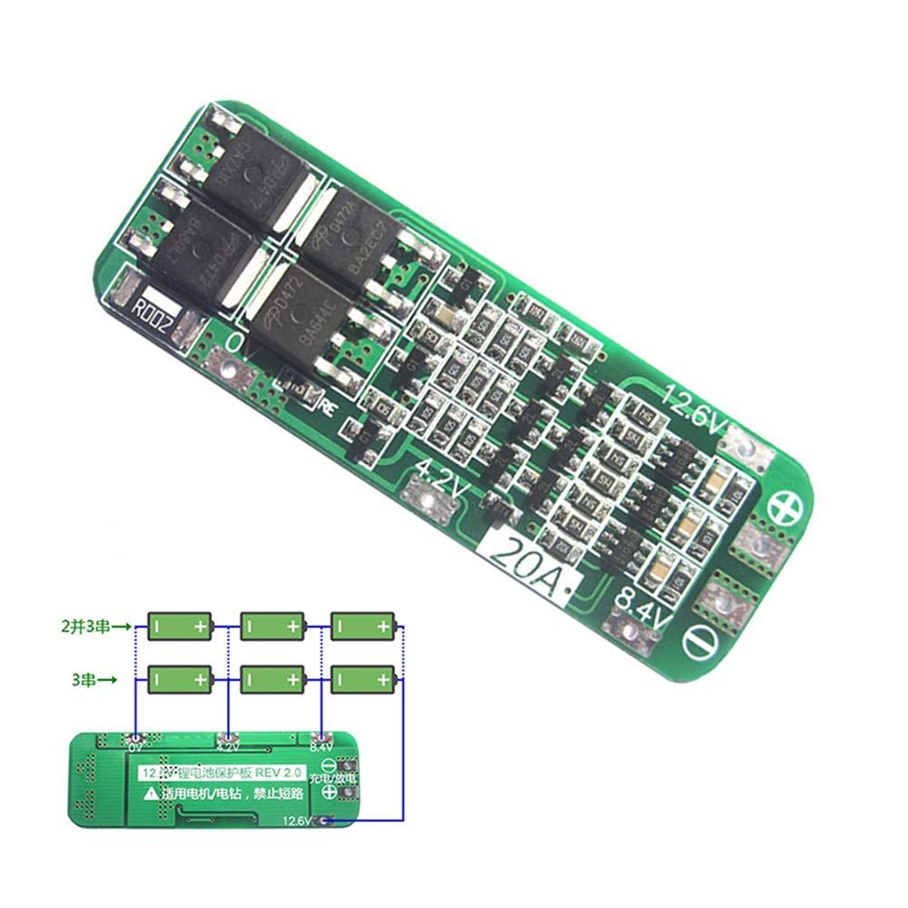 Amazon.com: 3S 20A Li-ion 18650 Lipo Cargador de batería de ...