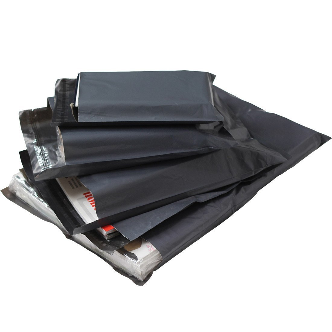 50 BAGS OF 14x16 INCH STRONG POLY MAILING POSTAGE LARGE 55MU SELF SEAL GREY XL