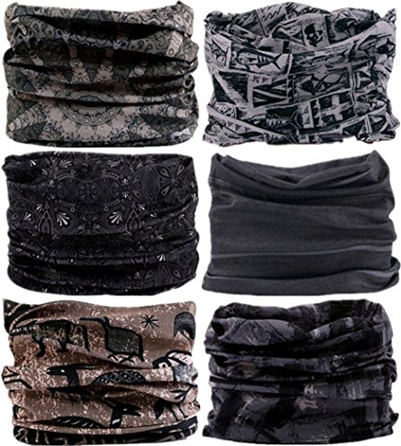 VANCROWN Headband Head Wrap Headwear Sport Sweatband 280 Patterns 12 in 1 Magic Scarf 12PCS 9PCS & 6PCS (Best Hair Dye For African American Men)