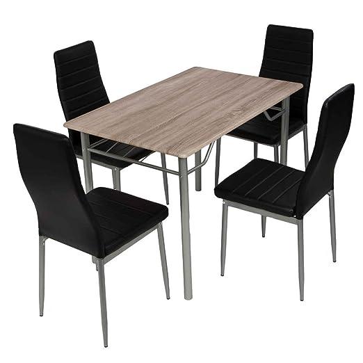 Amazonde Esstischgruppe Tischgruppe Sitzgruppe Mit 4 Stühlen Und