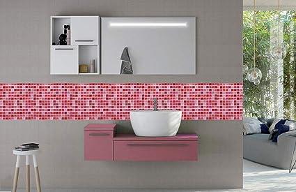 Vetrineinrete® piastrella adesiva 3d motivo a mosaico mattonella da