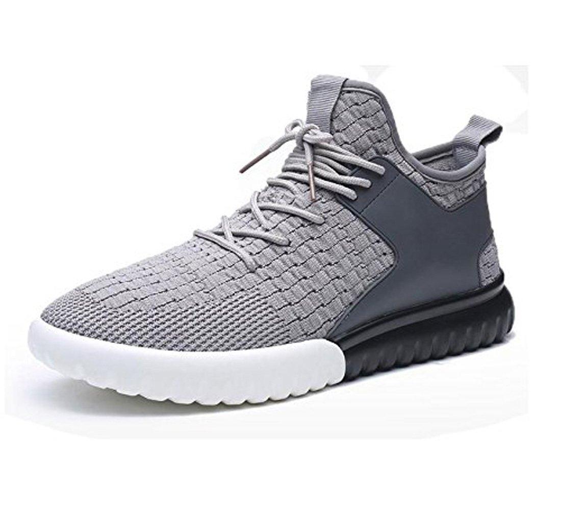 LQV Zapatos Casuales De Los Hombres Zapatos Deportivos Coreanos Transpirables Zapatillas Antideslizantes Nueva Tendencia De La Moda Cuatro Estaciones Universales 43 EU|Grey