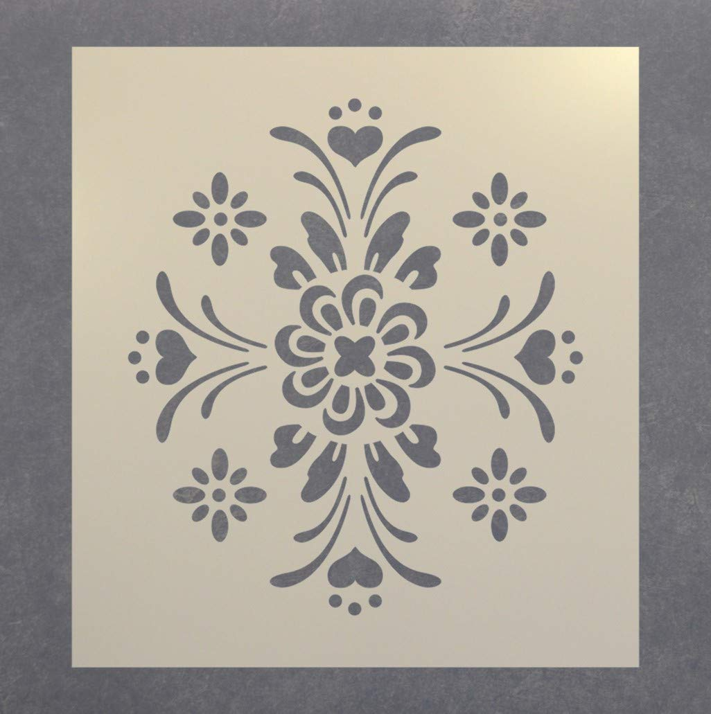 The Artful Stencil Rosemaling Pattern 3 Stencil