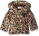 Pistachio Baby Girls' Faux Fur Animal Print Coat, Tan, 18 Months
