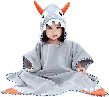 Shnna enfants Plage Serviette de bain Serviette de bain /à capuche Motif animal Coton Peignoir de bain pour gar/çons filles 0 7/ans