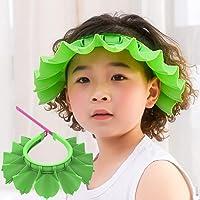 Baby Shower Cap Bathing Cap, Adjustable Shower Cap Kids, Infants Soft Protection Funny Safety Visor Cap for Toddler…