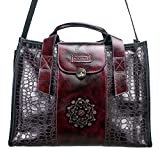 Macaro Victoria - Genuine Colombian Leather - Carry All Bag - Dark Red
