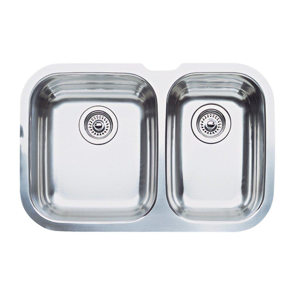 Blanco 512 066 niagara 1 12 bowl undermount kitchen sink satin blanco 512 066 niagara 1 12 bowl undermount kitchen sink satin polished finish double bowl sinks amazon workwithnaturefo
