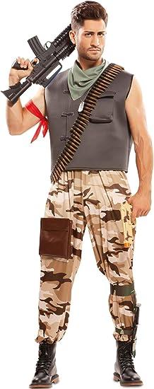 EUROCARNAVALES Disfraz de Soldado de Combate para Hombre: Amazon ...